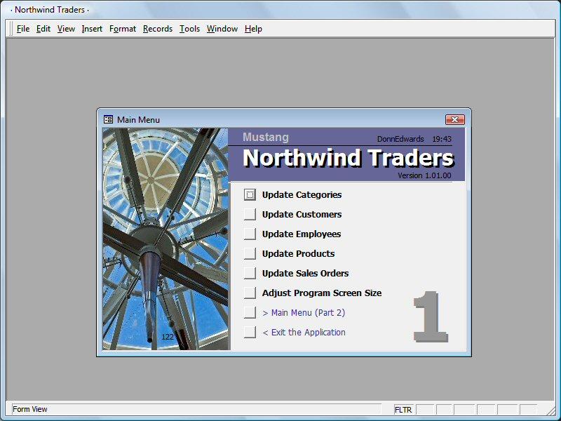 northwind traders Microsoft access 2007 biene con una base de datos ejemplo llamada northwind traders abre microsoft access 2007 y en la parte derecha tienes un panel de exploracion en donde encontraras una secci n llamada ejemplo al abrir ejemplo aparecer el ejemplo northwind 2007 haz clic en el para que.